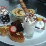Selection of desserts, great for sharing!