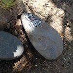 Sogar die Steine habengute Laune.