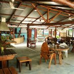 El Coquito bar area and restaurant in Matapalo Costa Rica