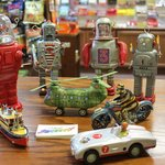 Robots and Motorcycles and Helicopters, Oh My!  Tin Toys!