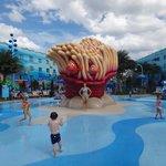 splash pad at the Big Blue Pool