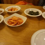 all the side dishes before the dumpling soup