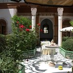 Courtyard dining at the Riad Timtam