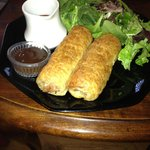 This is the Sausage Rolls with side salad