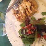 crab appetizers and house salad