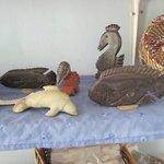 Hand carvings in souvenir store