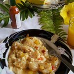 Best shrimp and grits by Chef Joe Rabitialle