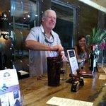 Winemaker Jonathan describing the terrior of his wines.