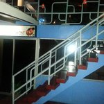 stair leading to the roof top restaurant
