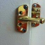 Security Latch in room missing screws