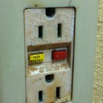 """Electrical outlet in """"refurbished"""" room"""