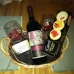 gift basket with romance package