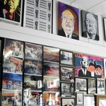 Walls are covered with pictures and stories
