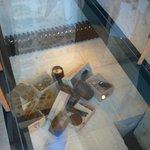 Glass floor in dining room
