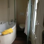 The bathroom even had a view!  And quite roomy!