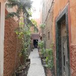 View of the riad on the street