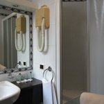 Shower (small) and handbasin