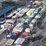 Mini Night Market setting up