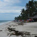 plaża po przypływie