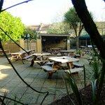 Pleasant garden for restaurant