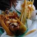 hotdog with kimuchi. That was really nice!