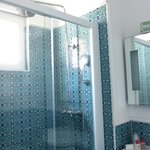 Double-sized beautifully tiled shower