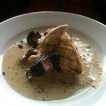 mmm pan fried chicken in mushroom n garlic sauce. delicious...