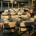 Seaside tables in Villa ruza