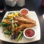Chicken goujons with sweet chilli dip