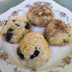 Fresh homemade scones from Fig Street Inn, Cape Charles, VA