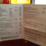 carta del restaurante