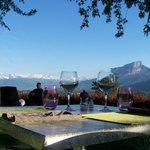 La vue panoramique en terrasse