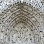 Part of front of Rouen cathedral