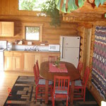 log lodge kitchen