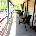 The guest room balcony - you may never want to go home!