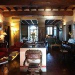 The lounge at Villa Campestri Olive Oil Resort