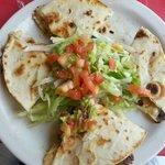 Try the Quesadilla, made with beef fajita and oaxaca cheese