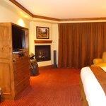 Bedroom area taken from bar in room