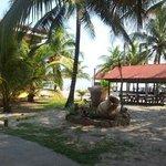 restaurant area front of beach