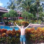 Me in front of the poolarea, and my room...