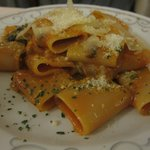 Never had this type of pasta before, but it was good.