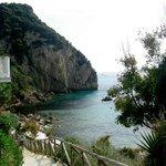 Steps down to hotel beach