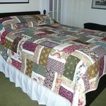 Lovely bed and quilt