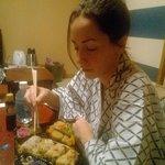 cenando en yukata