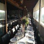 Restaurant set for the Wedding breakfast