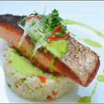 Grill Salmon & Green Curry.