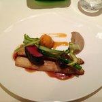 Venison with asparagus