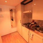 Kleine Küche im Zimmer
