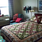 """Another view of my ADA room """"dressed"""" like home."""