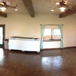 Spacious clubhouse with TV, projector system, full kitchen, fireplace